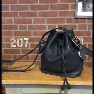 Coach leather tote/bucket bag